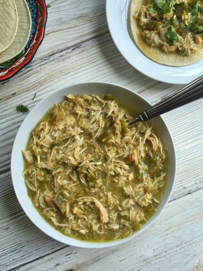 Slow-Cooker-Salsa-Verde-Chicken-Tacos-A Cedar Spoon