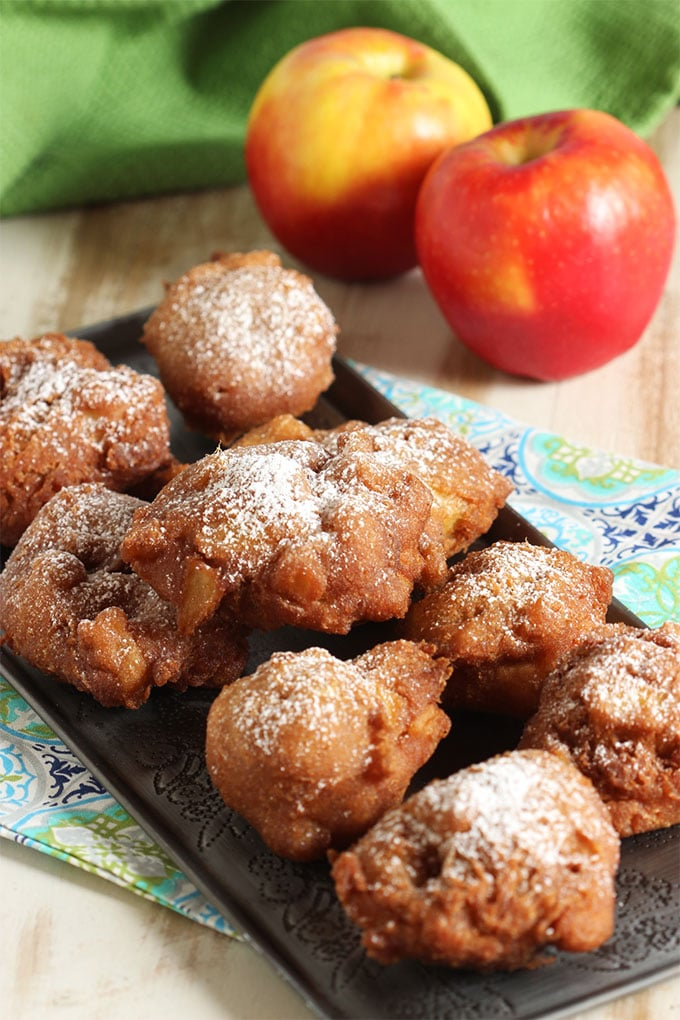 Easy Apple Fritters | TheSuburbanSoapbox.com #BrunchWeek