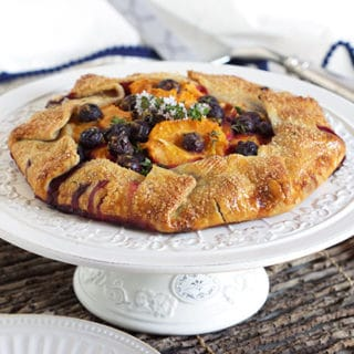 Apricot Blueberry Thyme Galette