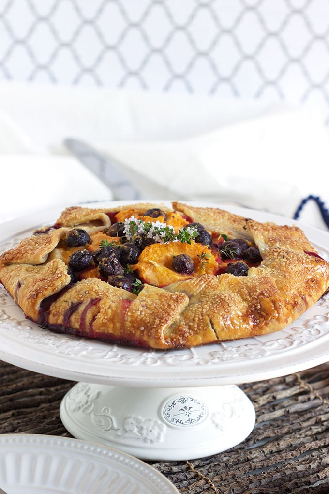 Apricot Blueberry Thyme Galette | TheSuburbanSoapbox.com