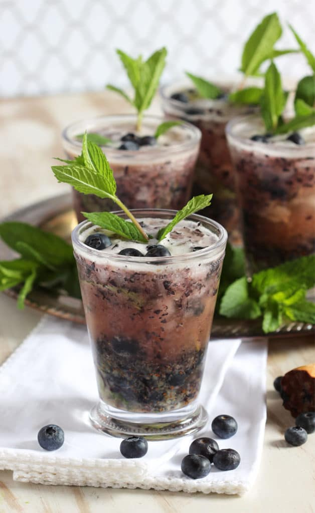 Blueberry Mint Julep | TheSuburbanSoapbox.com #BrunchWeek