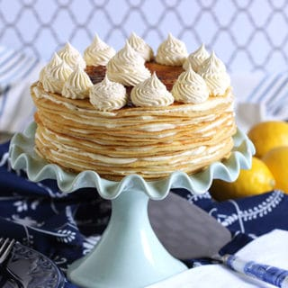 Lemon Mascarpone Crepe Cake #BrunchWeek