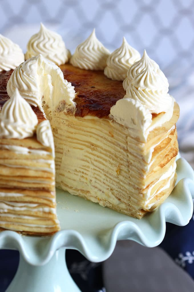 Lemon Marscarpone Crepe Cake | TheSuburbanSoapbox.com #BrunchWeek