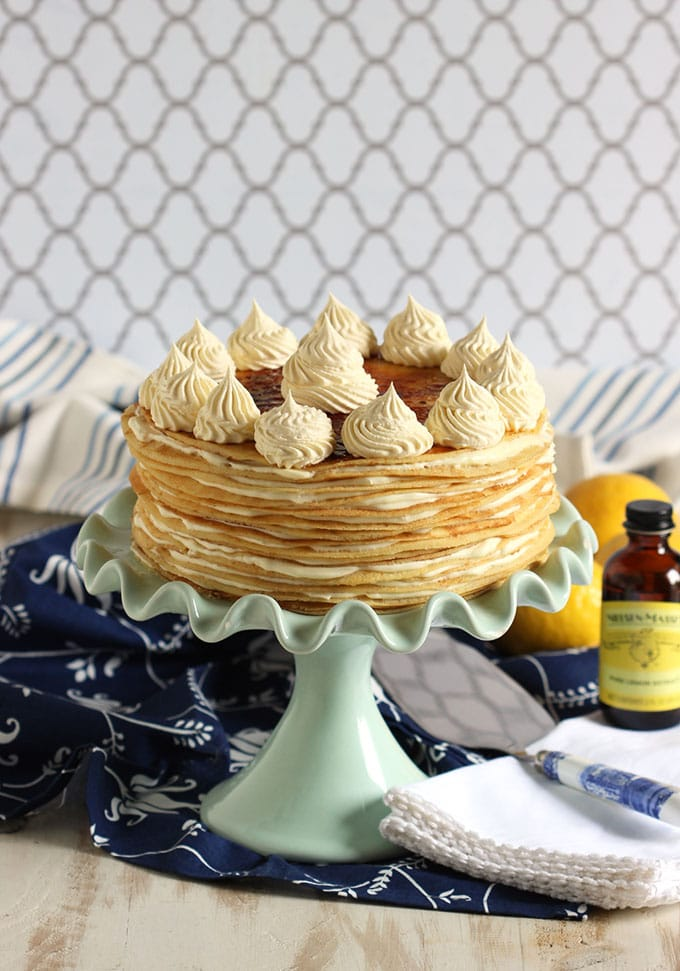 with crepe paper flowers and a phyllo nest lemon mascarpone gelato ...
