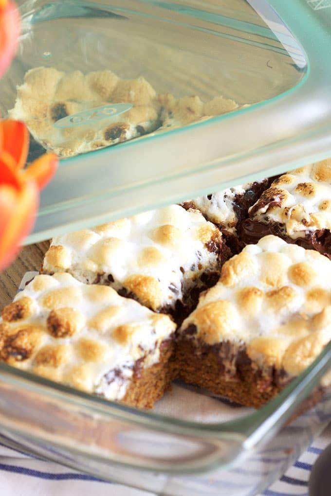 5-Ingredient S'mores Bars Recipe | TheSuburbanSoapbox.com