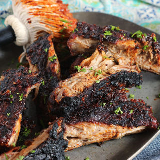 Spicy Grilled Barbecue Ribs