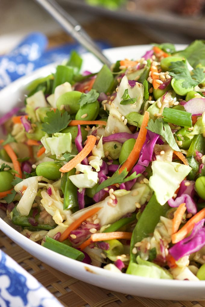 Easy Asian Style Coleslaw | TheSuburbanSoapbox.com #madewithkitchenaid