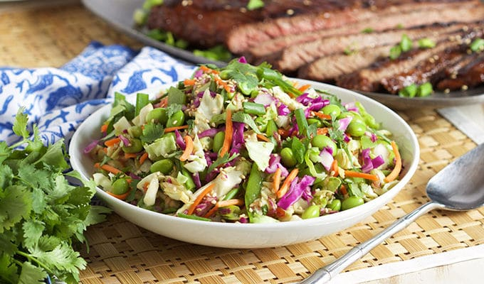 Easy Asian Style Coleslaw