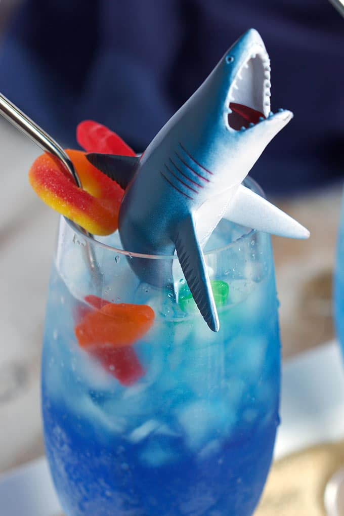 A fun kid-friendly drink that's easy to make and perfect for Shark Week!