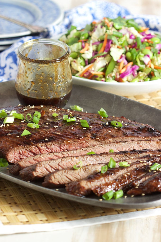 Simple and quick, this Five Spice Teriyaki Flank Steak is made with just 3 ingredients and is ready in minutes!