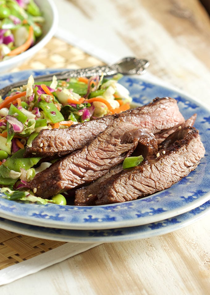 Simple and quick, this Five Spice Teriyaki Flank Steak recipe is made with just 3 ingredients and is ready in minutes!