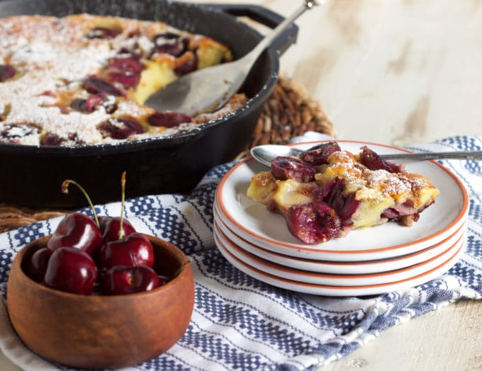 Simple Cherry Clafoutis - The Suburban Soapbox