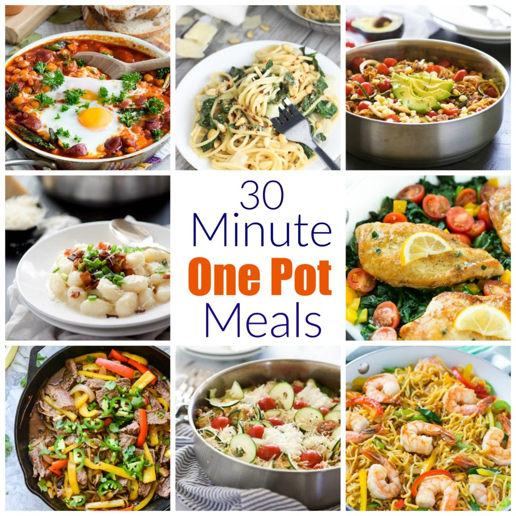 The best 30 minute one pot dinners the suburban soapbox 30 minute collage forumfinder Choice Image