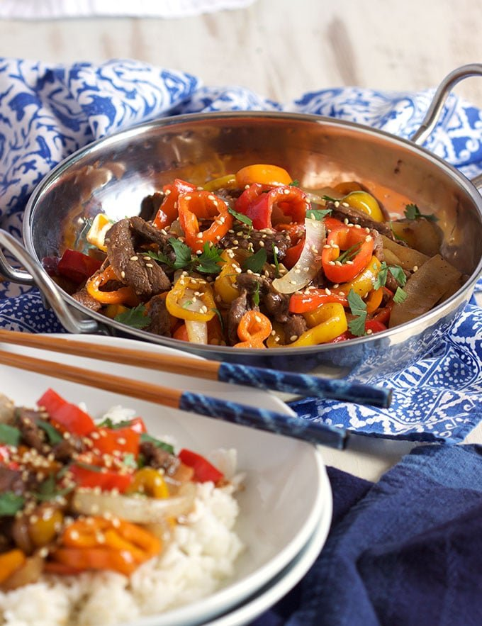 This easy 15 Minute Pepper Steak recipe will be a weeknight dinner favorite, from TheSuburbanSoapbox.com.