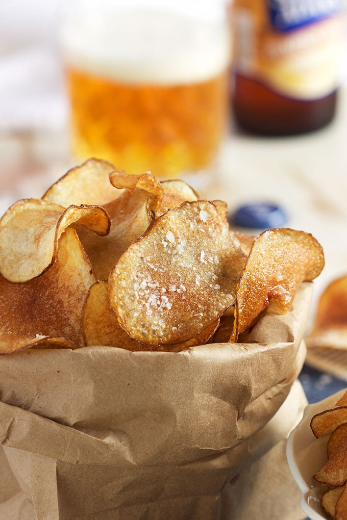 Super easy Salt and Vinegar Potato Chips recipe that will blow your mind from TheSuburbanSoapbox.com.