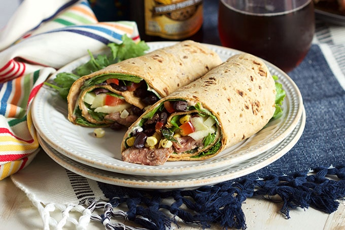 Southwest Style Steak Wrap