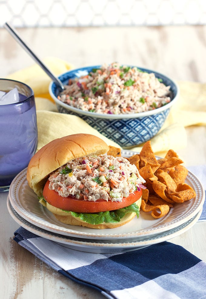 The BEST Tuna Salad recipe ever, so easy to make. Light, fresh and ...