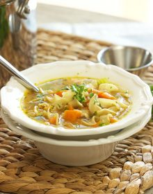 The Best Chicken Noodle Soup recipe ever, perfect for crisp fall nights!   TheSuburbanSoapbox.com