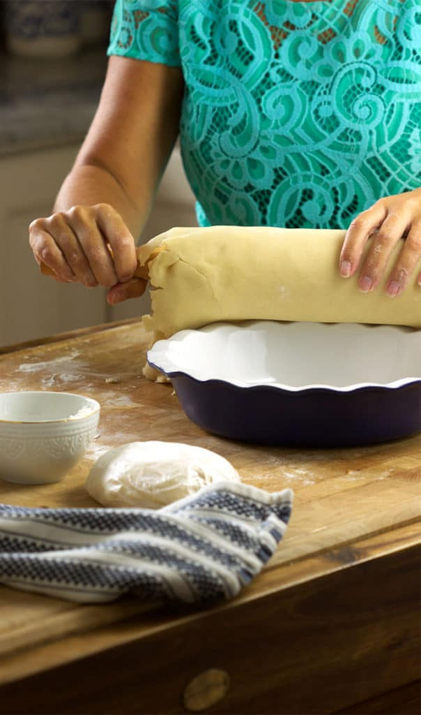 Flaky, buttery, perfect, this is the easiest and best pie crust recipe ever!   TheSuburbanSoapbox.com