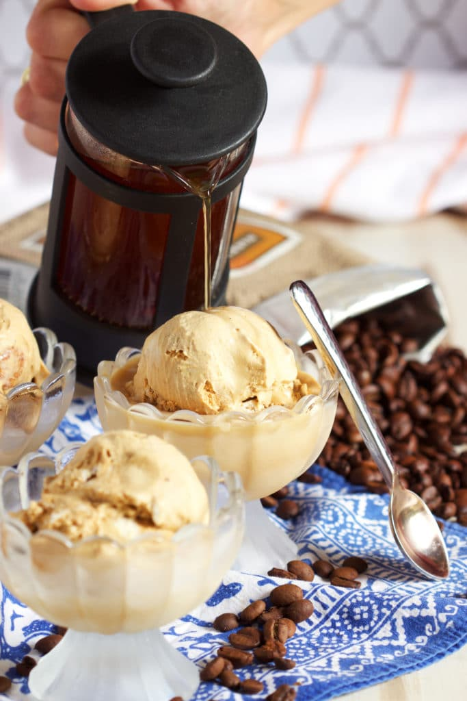 Dessert in minutes with this easy Pumpkin Affogato recipe. TheSuburbanSoapbox.com