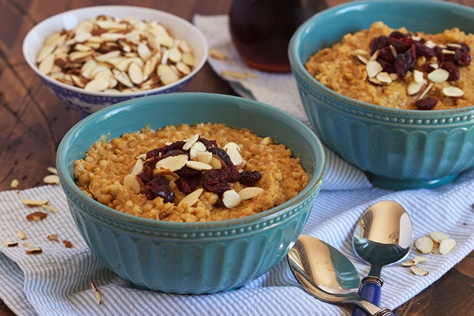 Slow Cooker Pumpkin Spice Oatmeal - The Suburban Soapbox