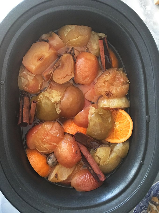 Super easy to make at home, this Slow Cooker Apple Cider recipe is the best around. Simple and fresh. TheSuburbanSoapbox.com