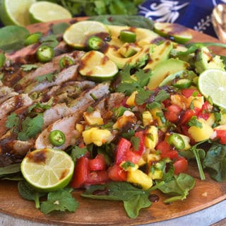 Jamaican Jerk Pork with Pineapple Pico De Gallo