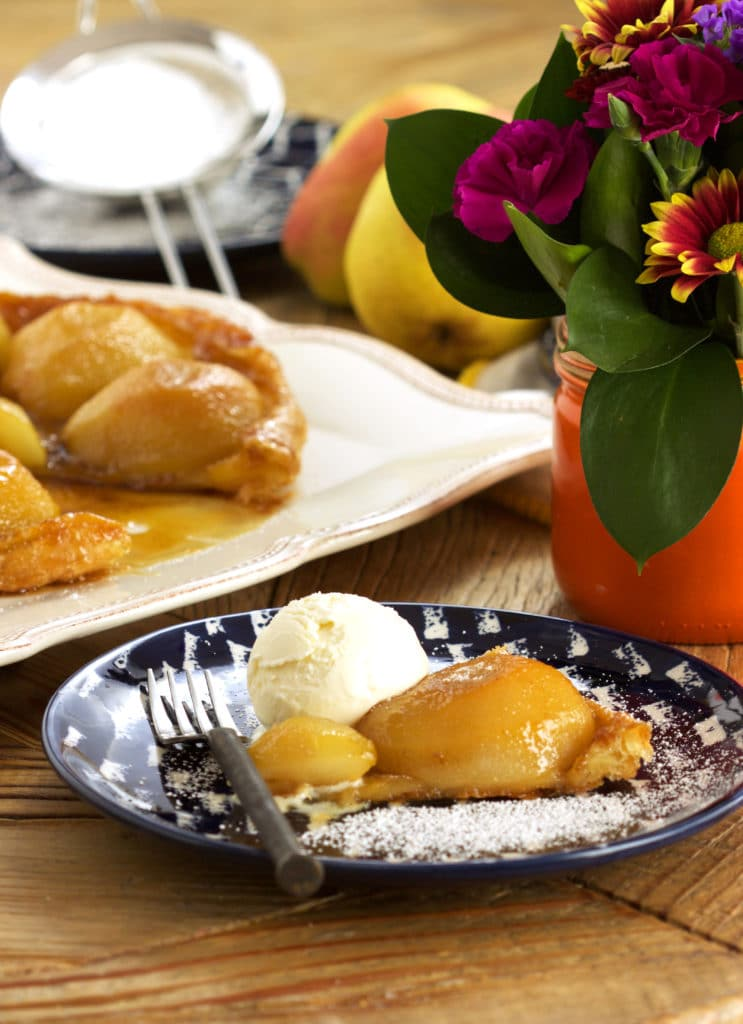 Easy, flaky, buttery Pear Tarte Tatin is the best fall dessert ever. | TheSuburbanSoapbox.com