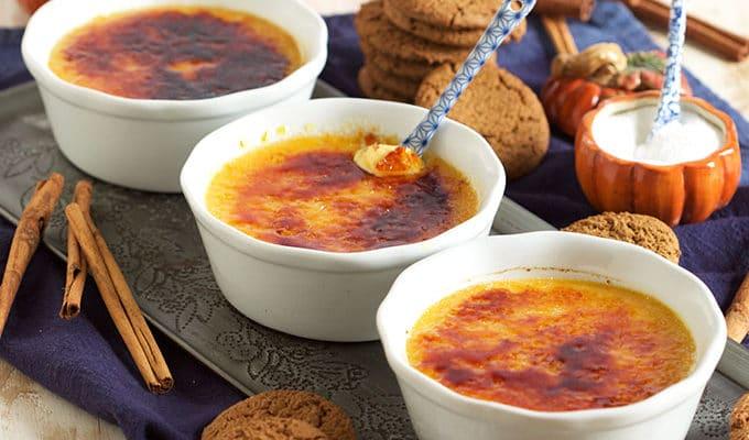 Pumpkin Spice Creme Brûlée