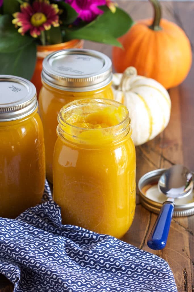 Super easy Slow Cooker Pumpkin Puree recipe is simple and better than anything in a can. | TheSuburbanSoapbox.com