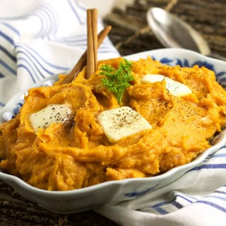 Brown Butter Mascarpone Mashed Sweet Potatoes
