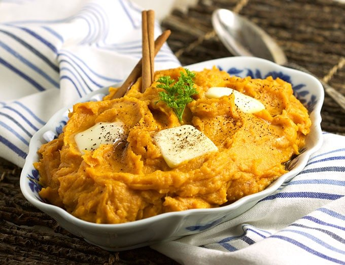 Brown Butter Mascarpone Mashed Sweet Potatoes - The Suburban Soapbox