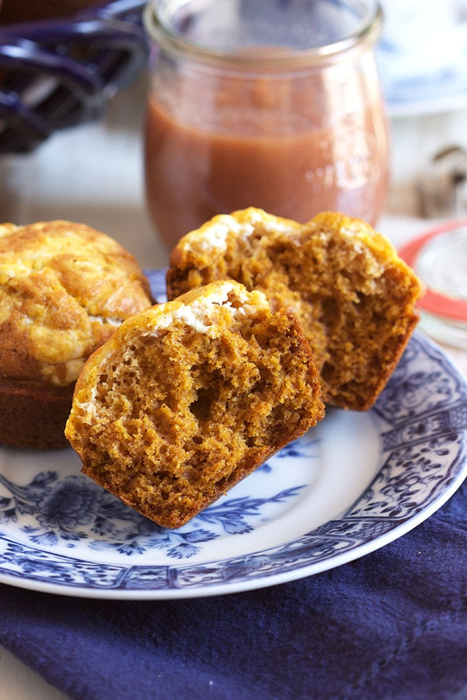 Super easy Pumpkin Cream Cheese Muffins are the best way to start a crisp fall day. TheSuburbanSoapbox.com