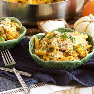 Pumpkin Pasta with Sausage and Sage // Video