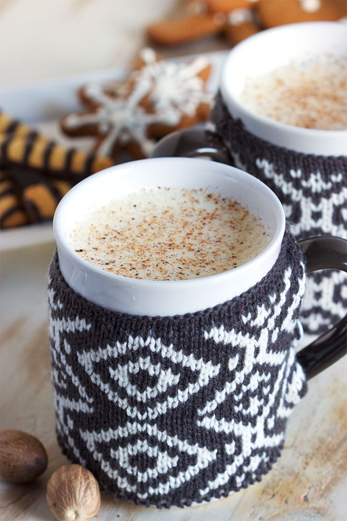 Super Easy Blender Eggnog Recipe is the BEST way to toast the holidays.   TheSuburbanSoapbox.com