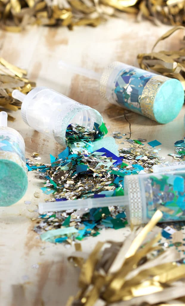 Easy to make DIY Confetti Party Poppers are fun for any occasion. | TheSuburbanSoapbox.com
