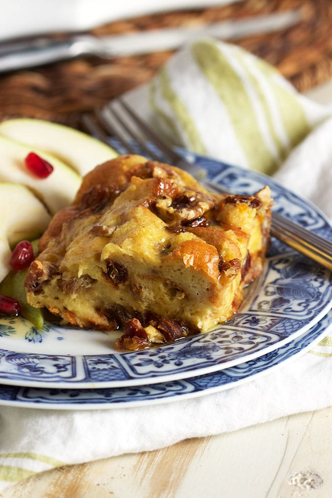 Simple and festive, Brioche French Toast Casserole with Fruit and Nuts is easy to prepare and the BEST breakfast recipe in the world! | TheSuburbanSoapbox.com