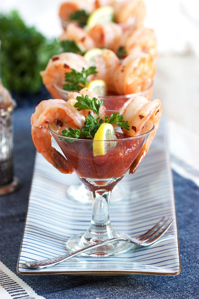 Garlic Roasted Shrimp Cocktail - The Suburban Soapbox
