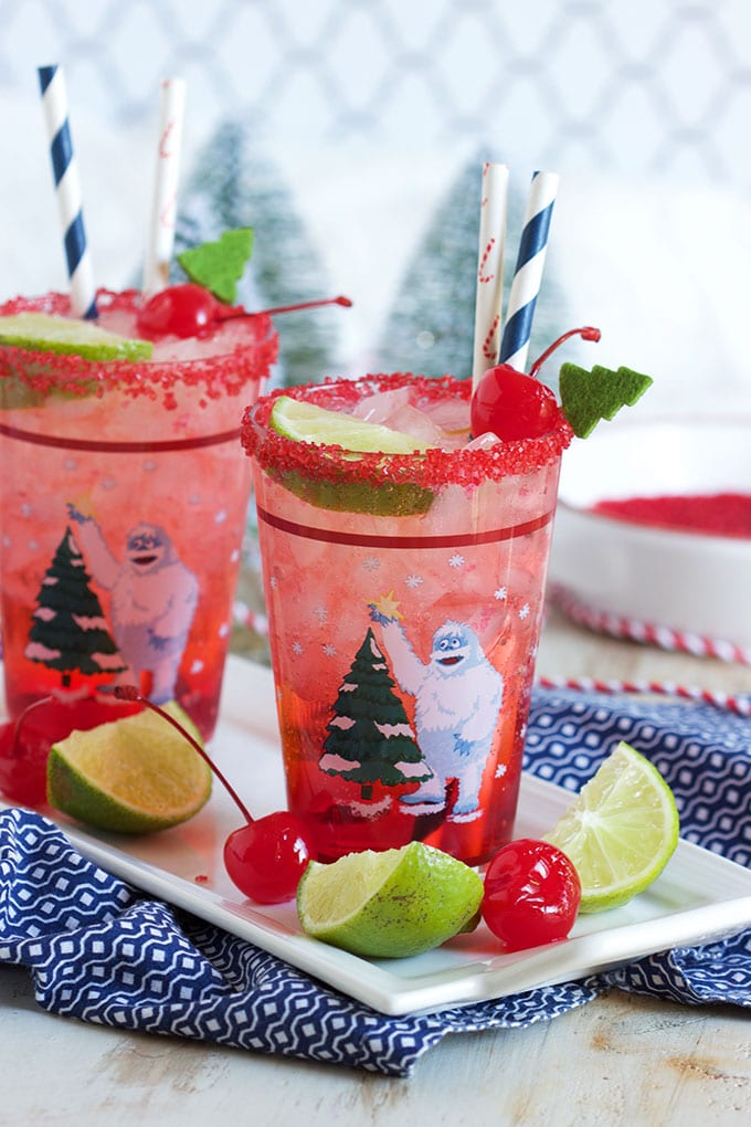 The best kid friendly holiday beverage, Shirley Temple Mocktail Recipe is easy with just two ingredients! | TheSuburbanSoapbox.com
