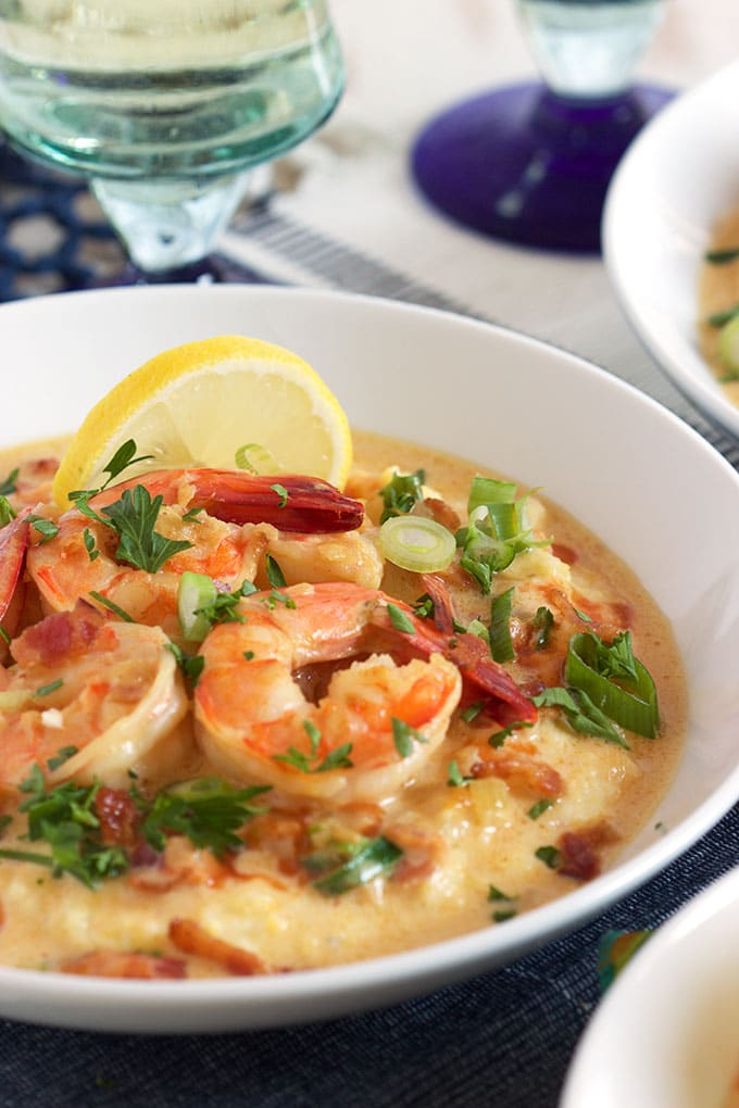 Easy Cheesy Shrimp and Grits - The Suburban Soapbox
