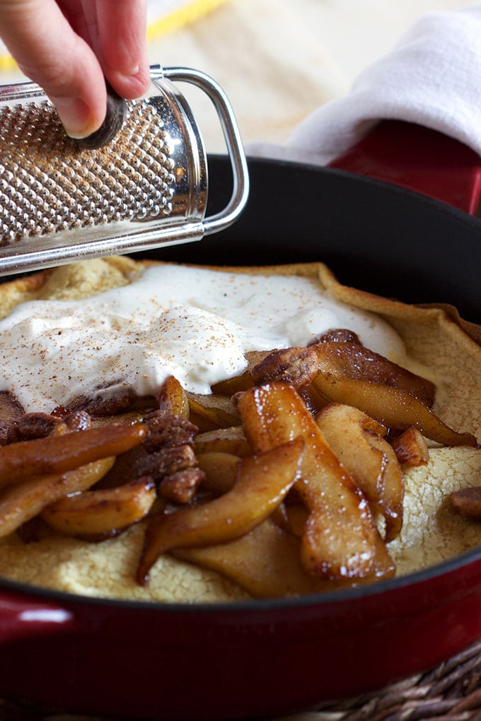 Spiced Pear Dutch Baby - The Suburban Soapbox