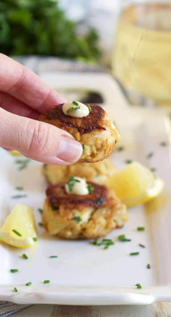 Light on fillers, the very best Crab Cakes Recipe is loaded with tender jumbo lump and other simple, fresh ingredients for an easy and quick dinner Maryland style! | TheSuburbanSoapbox.com