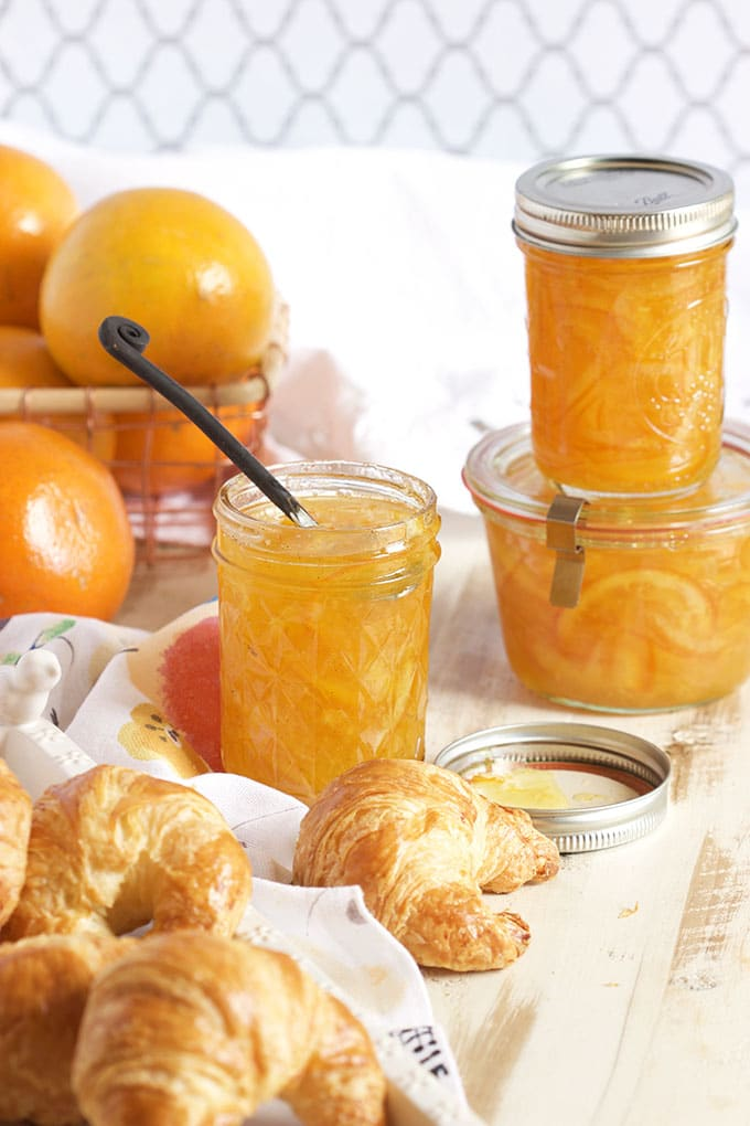 This Easy Orange Marmalade Recipe is spiked with vanilla and perfect spread on absolutely everything!   TheSuburbanSoapbox.com