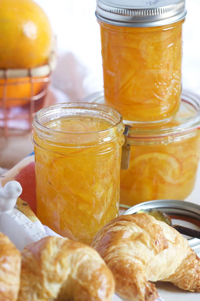 This Easy Orange Marmalade Recipe is spiked with vanilla and perfect spread on absolutely everything! | TheSuburbanSoapbox.com