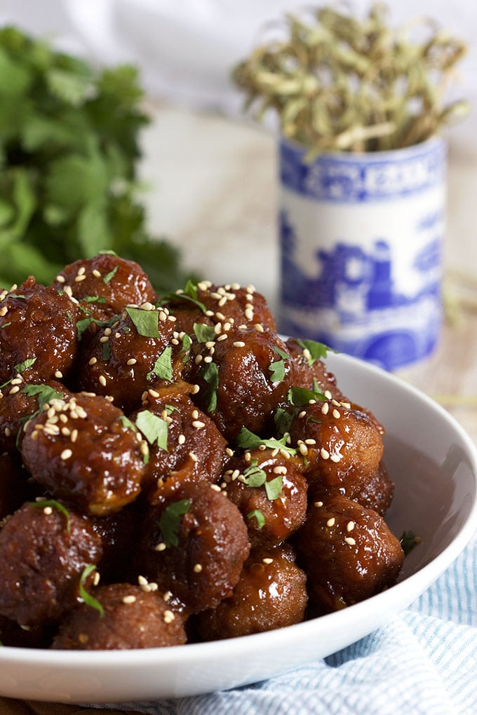 Super easy to make Slow Cooker Spicy Orange Marmalade Meatball recipe is the perfect addition to any game day spread! | TheSuburbanSoapbox.com