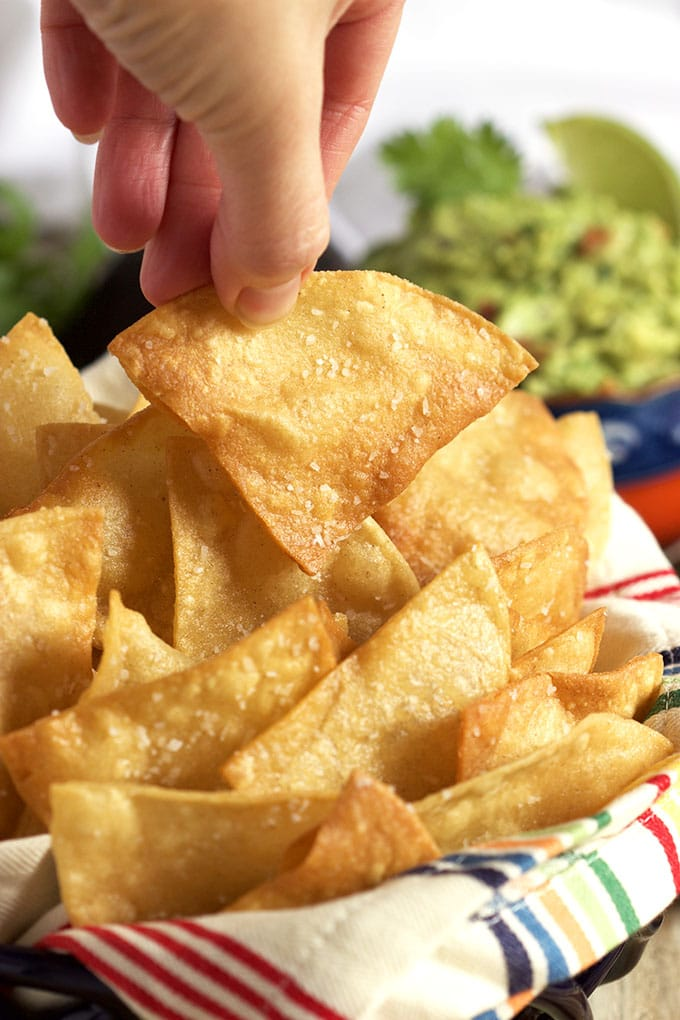 The easiest way to make Homemade Tortilla Chips that are better than any restaurant. | TheSuburbanSoapbox.com