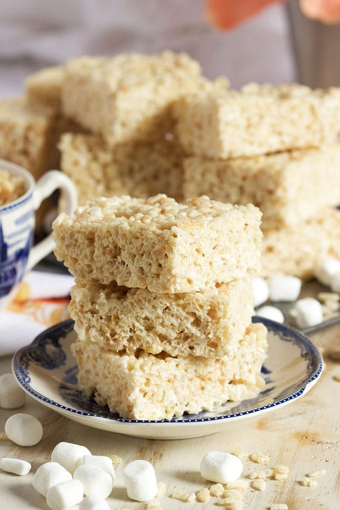 Filled with extra flavor and fun, this is the Very Best Rice Krispie Treat recipe ever. Follow my simple technique for ooey, gooey heaven. | TheSuburbanSoapbox.com