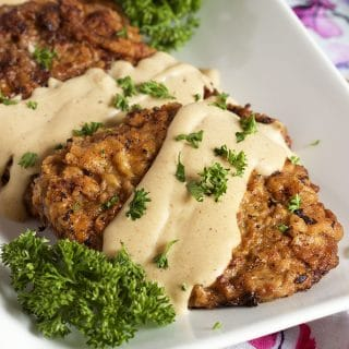 Easy Chicken Fried Steak with Country Gravy