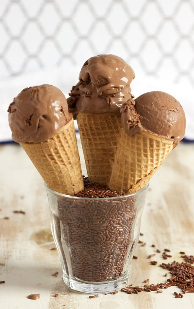 Easy, rich and creamy, the BEST Chocolate Ice Cream recipe ever made....like frozen chocolate mousse. So amazing! | TheSuburbanSoapbox.com