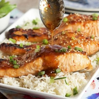 Sweet Chili Orange Glazed Salmon